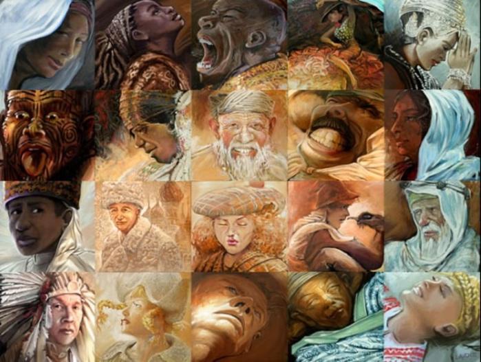 Картины, созданные из картин (700x527, 145Kb)