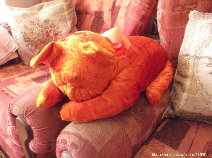 Как сшить подушку спящий кот 85