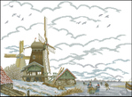 Превью ER 12-718 Dutch Mill in the Snow (700x511, 237Kb)