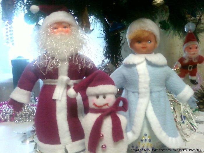 Дед мороз снеговик снегурочка своими руками