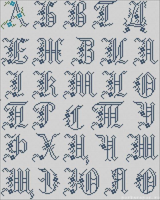 Часть 42 - Буквы для вышивки и