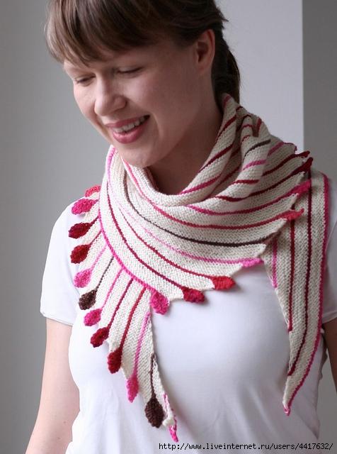 Вязание шарф косынки