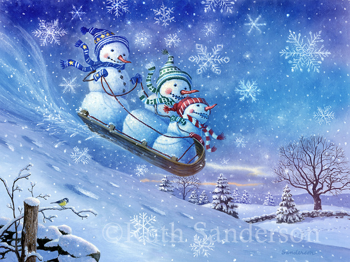 C018_Sledding Snowmen_R (700x523, 251Kb)