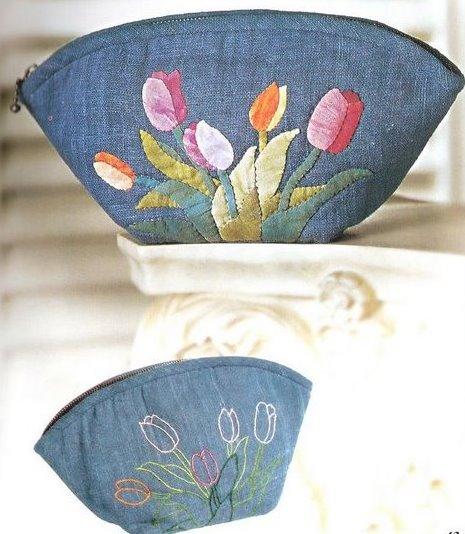 Косметичка из джинсовой ткани