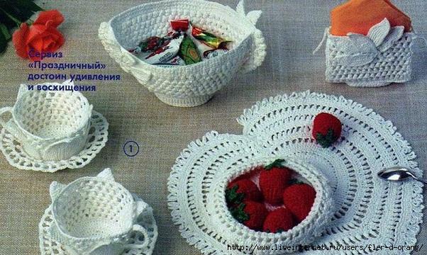 <вязаная посуда схема - Самое