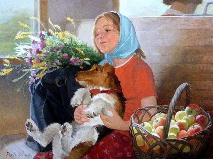 Татьяна Дерий. Дачные радости (700x524, 132Kb)