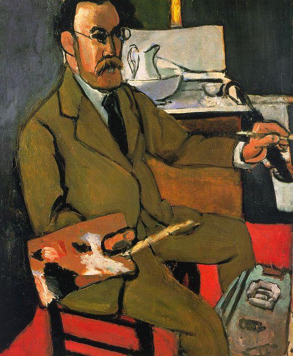 Автопортрет 1918 г. Музей Матисса, Ле Кате-Камбре, Франция (577x700, 105Kb)