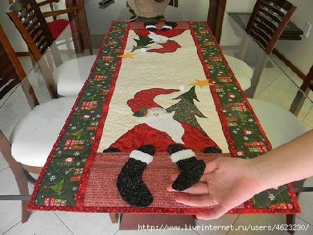 Сделать своими руками новогоднюю скатерть