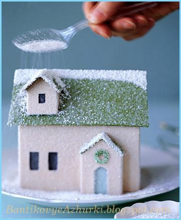 Новогодний-домик-со-снегом (360x437, 66Kb)