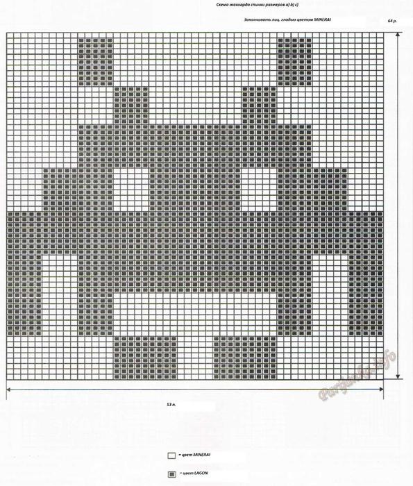 6 из 76, схема жаккарда спинки для размеров a) b) c) (595x700, 435Kb)