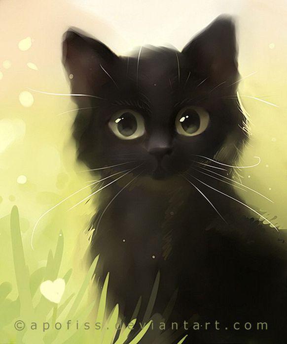 Rihards Donskis кошки картины (582x700, 37Kb)