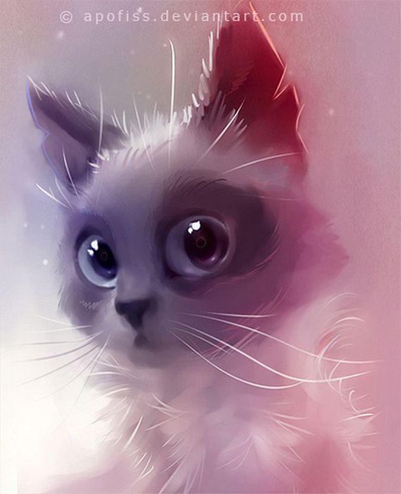 Rihards Donskis кошки картины 3 (569x700, 41Kb)