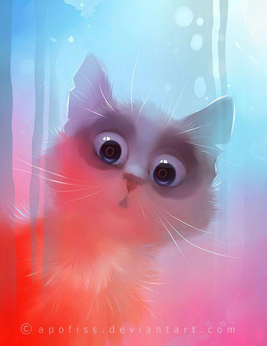 Rihards Donskis кошки картины 5 (540x700, 32Kb)