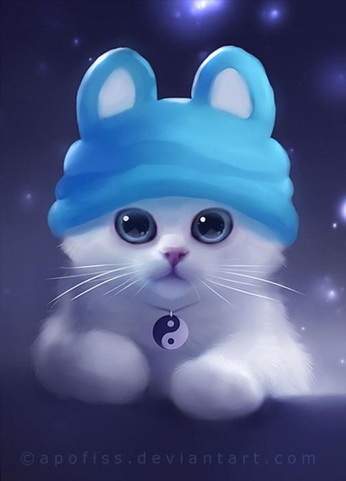 Rihards Donskis кошки картины 7 (504x700, 143Kb)