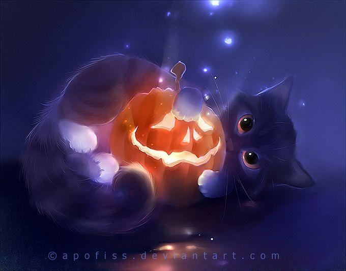 Rihards Donskis кошки картины 12 (680x533, 50Kb)