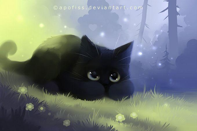 Rihards Donskis кошки картины 14 (680x452, 32Kb)