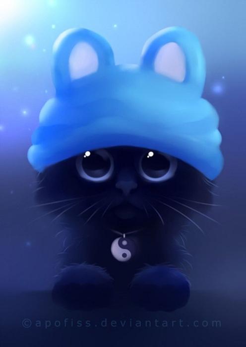 Rihards Donskis кошки картины 18 (496x700, 125Kb)