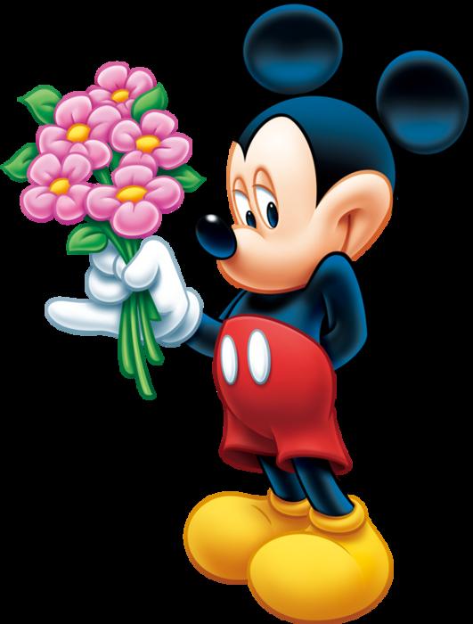 Картинки микки маус с цветами 1