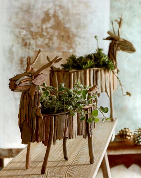 Дизайн из веток дерева