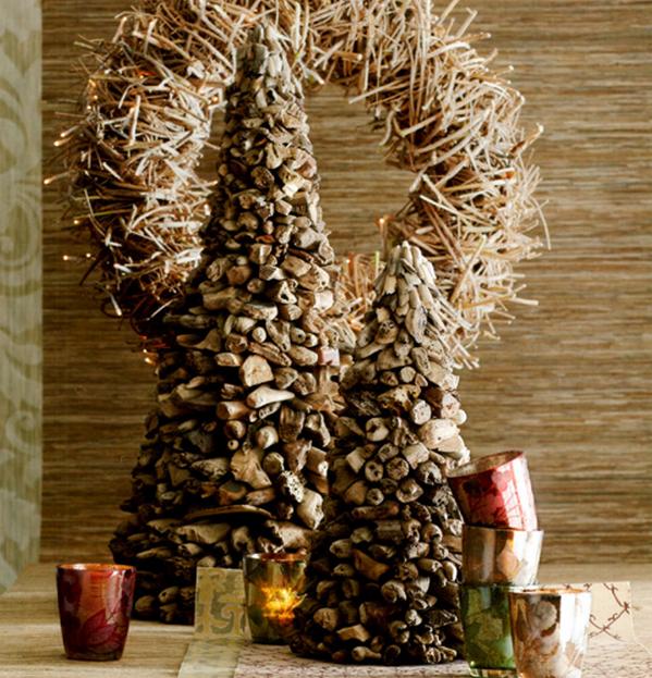 Декор из ивовых прутьев
