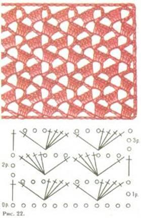 двухцветные узоры крючком со схемами - Исскуство схемотехники.