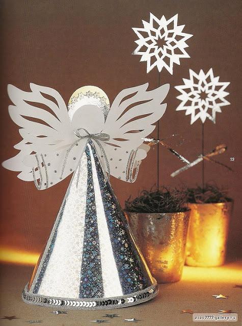 Ангел на елку своими руками