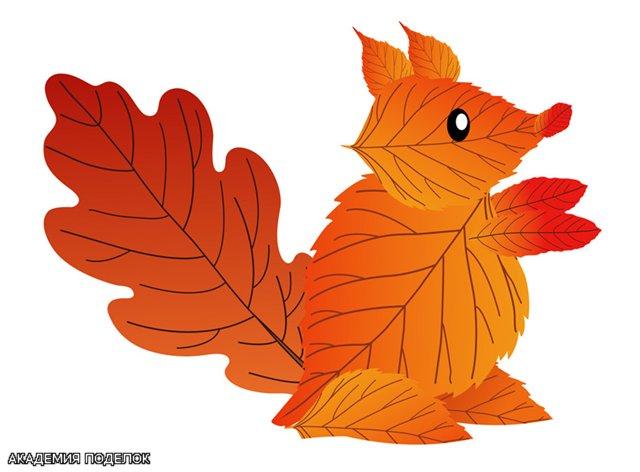 Поделки из листьев