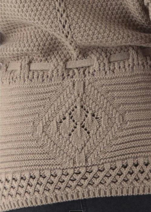 Осинки вязание спицами кардиганов