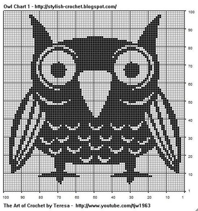 Схема вязания совы бесплатно