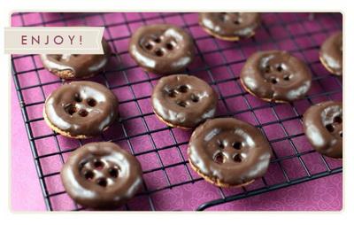 Шоколадные печенье пуговицы (400x254, 45Kb)