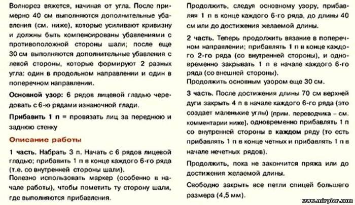 """Часть 1 шарф бактус волнорез."