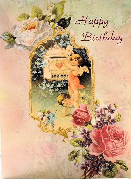 С днем рождения ретро открытки женщине