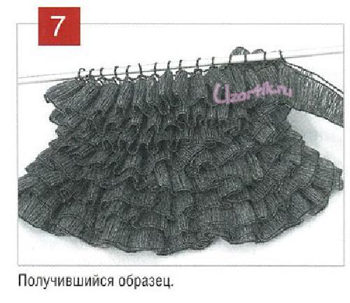 Технология вязания юбки