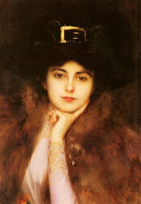 Портрет элегантной дамы (483x700, 230Kb)