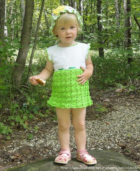 Вязаные Платья На Лето На Девочку 1 Год Фото