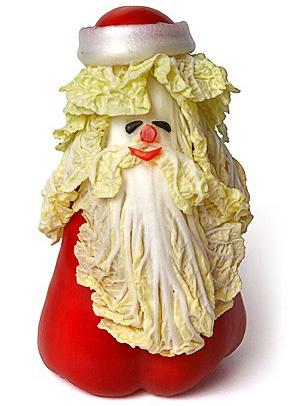 Дед Мороз из овощей (304x406, 72Kb)