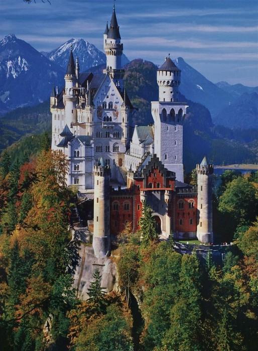 замок Нойшванштайн в Швангау, Германия-9 (514x700, 127Kb)
