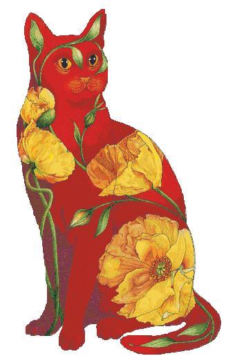 кот в цветах (327x514, 27Kb)