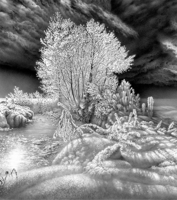рисунки карандашом небо:
