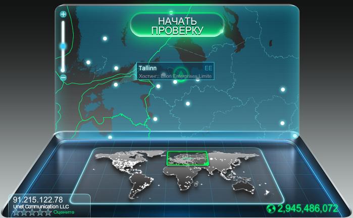 Проверка скорости работы интернета