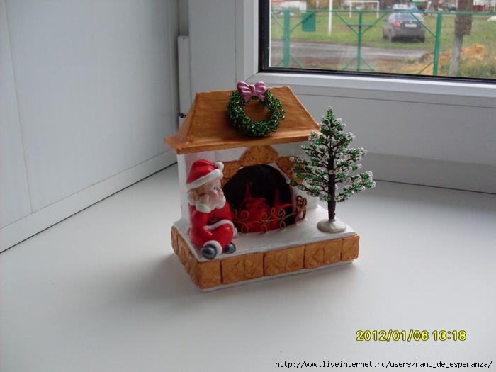 Рождественский камин из картона своими руками