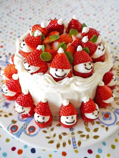 Украшение новогоднего торта фото