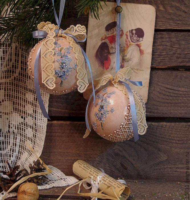 Новогодние шары своими руками декупаж