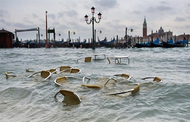 Наводнение в Венеции. Фотографии
