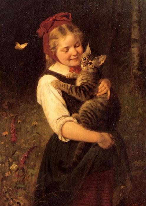 Rudolf Epp (1834 – 1910, German)girl-with-cat-3 (495x700, 49Kb)