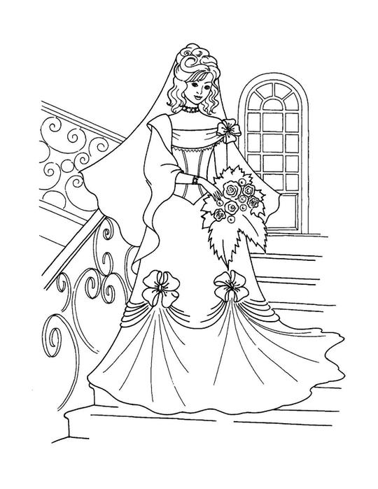 Раскраска рисунок девочки