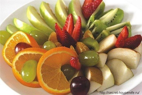 Оформление фруктовой нарезки