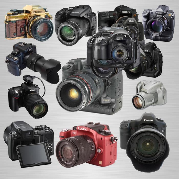 Клипарт - Фотоаппараты (700x700, 372Kb)