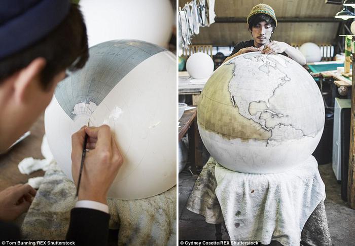 глобусы ручной работы Bellerby & Co. Globemakers 3 (700x485, 321Kb)