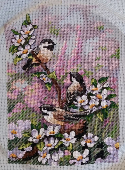 Chickadees in Spring (515x700,